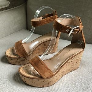 Gianvito Rossi Sandals Wedge Ankle Strap Buckle 6